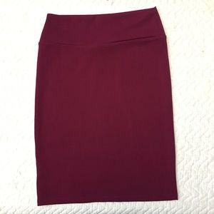 Maroon LuLaRue Cassie Skirt
